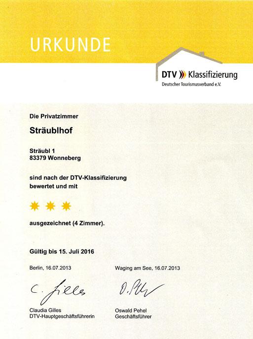 3-Sterne-Auszeichnung
